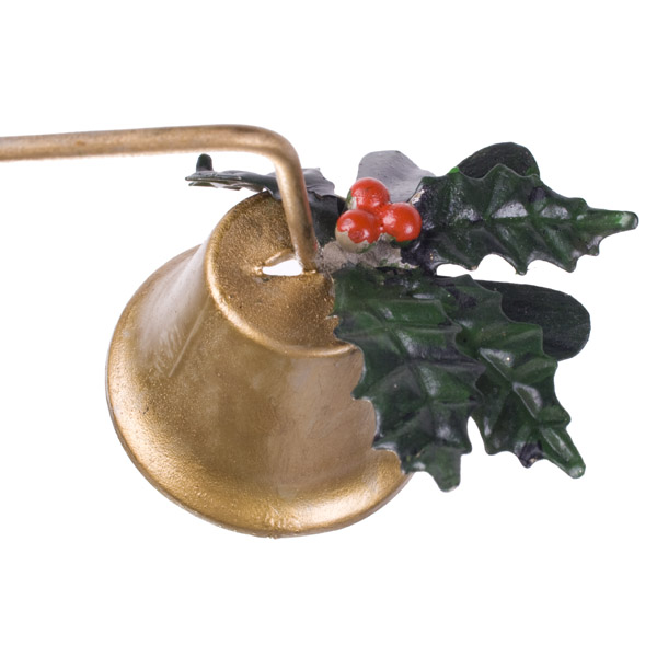 Gisela Graham Gold Metal Holly Candle Snuffer - 35cm (203-15773)