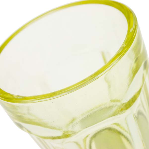 Yellow Glass Tealight Candle Holder - 65mm