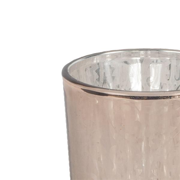 Copper Glass Tealight Holder - 70mm