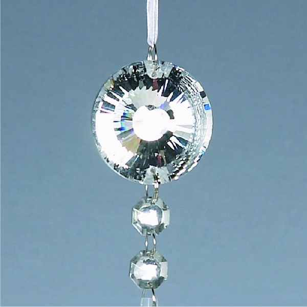 Sparkle Glass Drop Decoration - 15cm