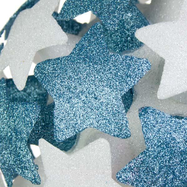 White/Light Blue 3D Star Bauble - 200mm