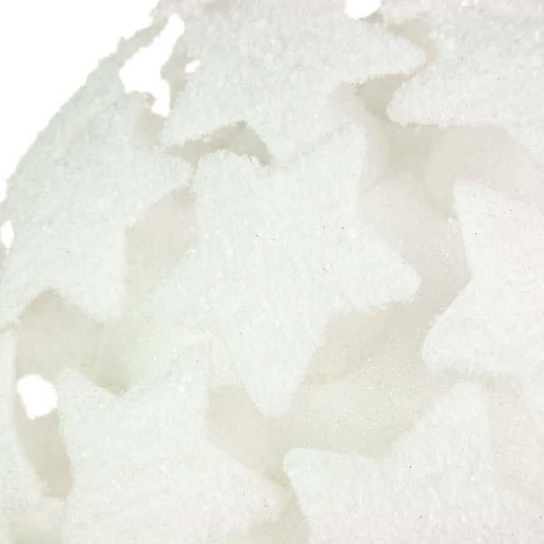White 3D Star Bauble - 250mm