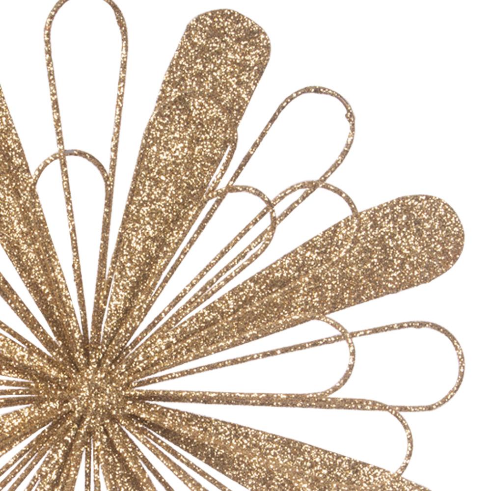Gold Metal Starburst Hanging Decoration - 150mm