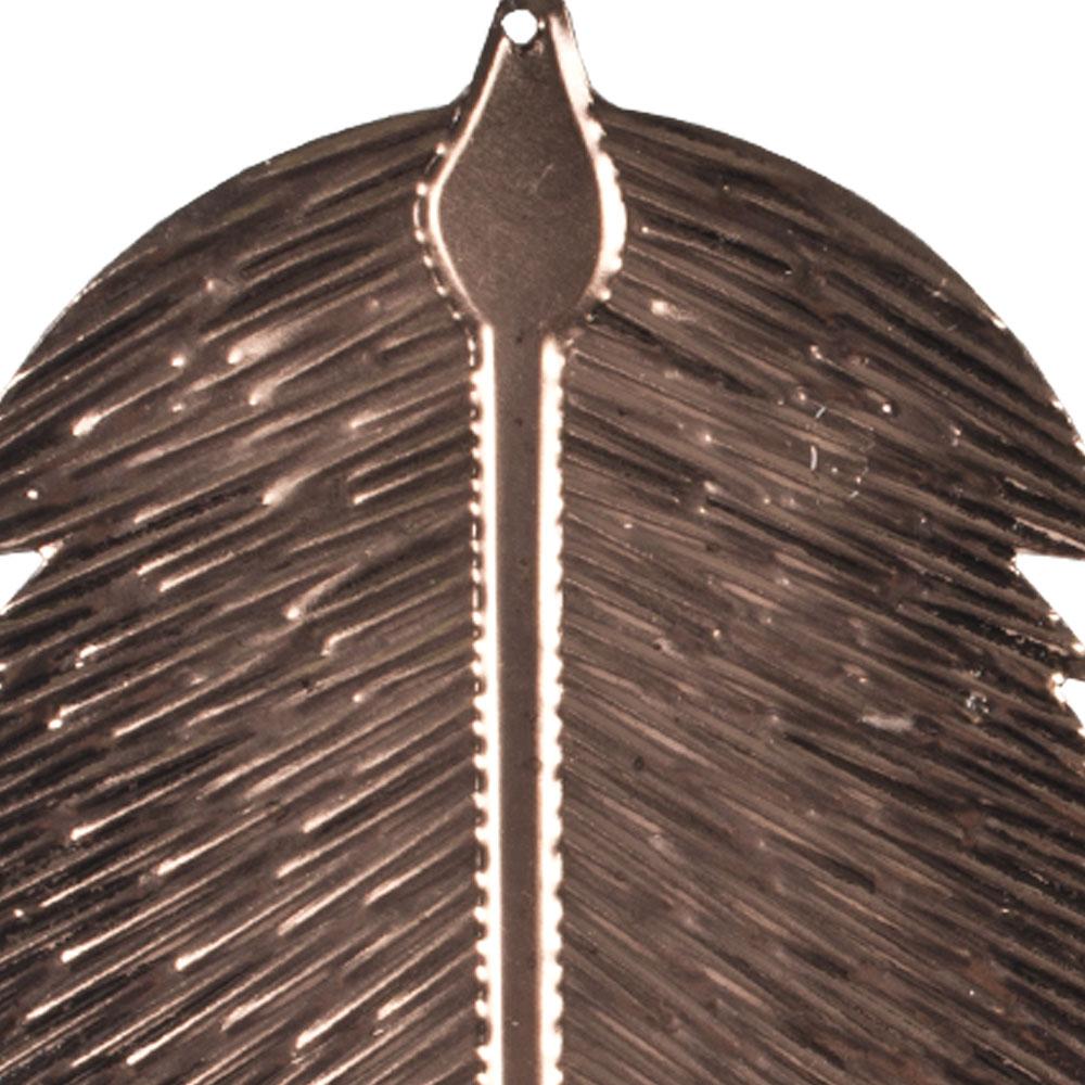 Copper Oval Metal Leaf Hanging Decoration - 8cm X 14cm
