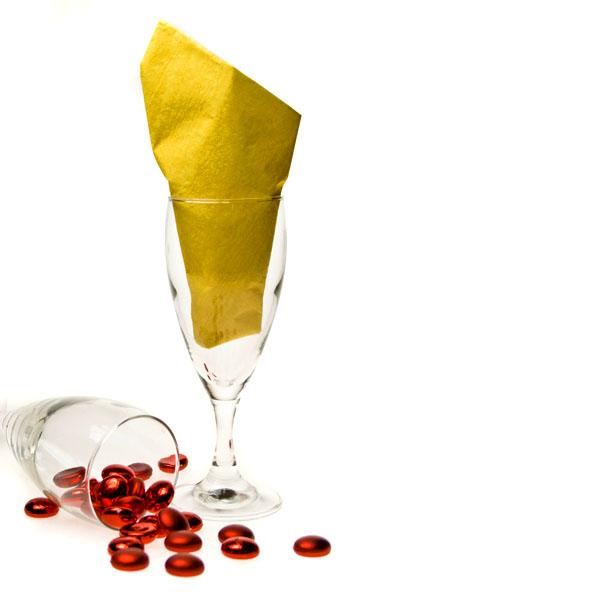 Dinner Napkins - Moire Yellow