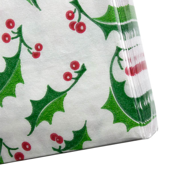 Christmas Lunch Napkins - Pearl Holly Berry