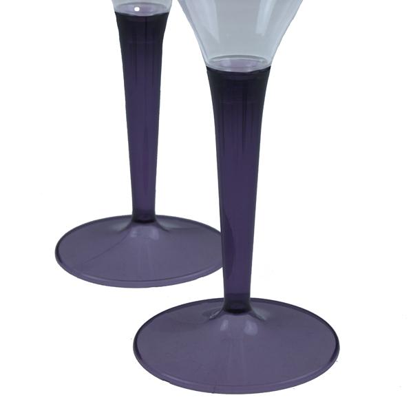 Mozaik Aubergine Coloured Stem Wine Glasses - Pack of 6 (211-25000-PU-WI)