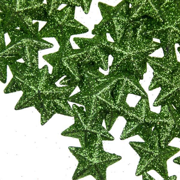 Green 3D Star Confetti