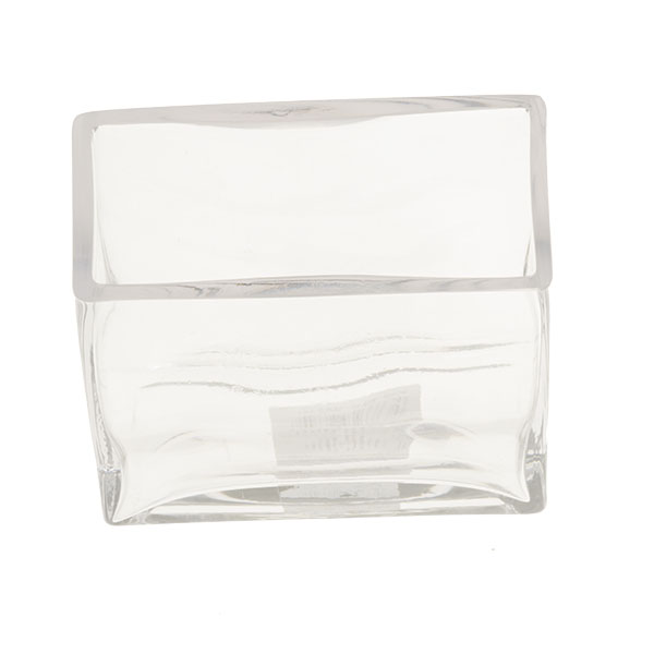 Glass Rectangular Tank Vase - 15cm X 12cm