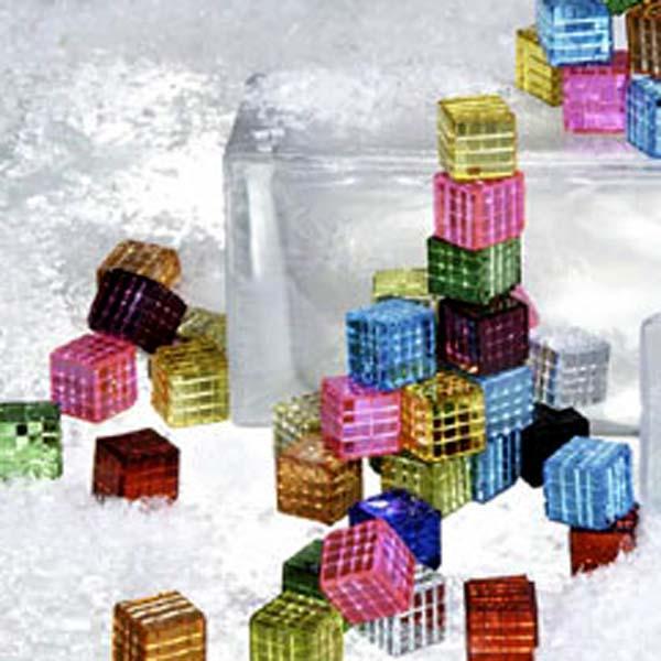 Burgundy Red Decorative Mirror Cubes - 250ml