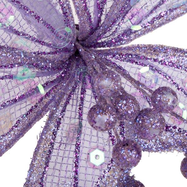 Lilac Sheer Flower Clip - 20cm