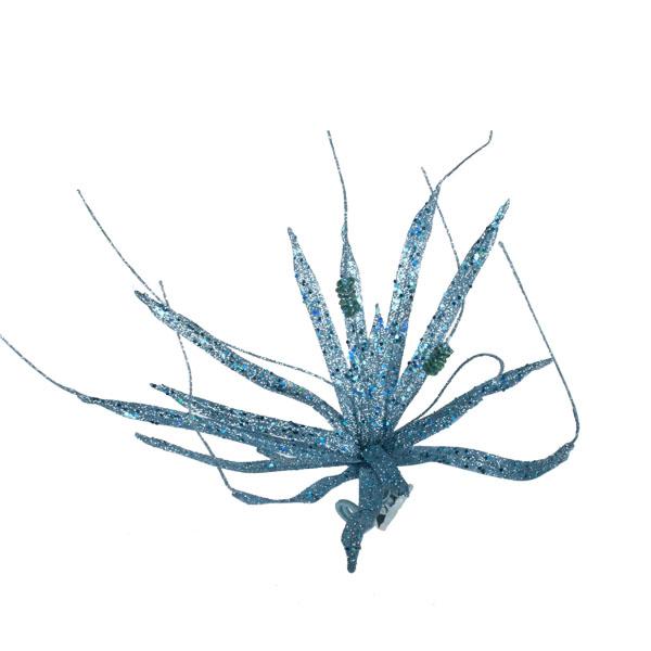 Pale Blue Glitter Clematis Flower - 30cm