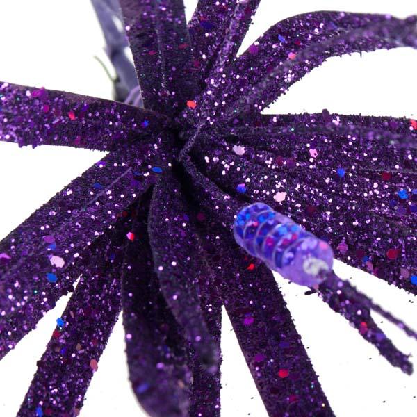 Purple Glitter Clematis Flower - 30cm