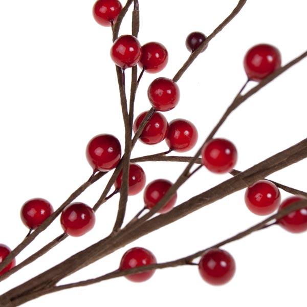Red Bead Berry Spray - 75cm