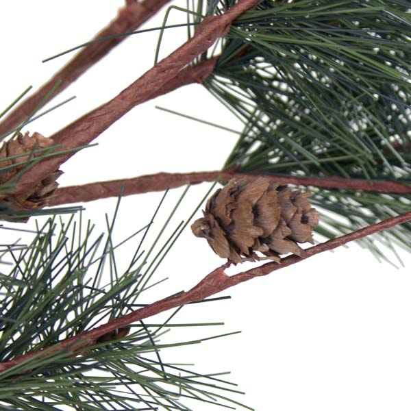 Green Pine Twigged Spray With Pine Cones - 70cm