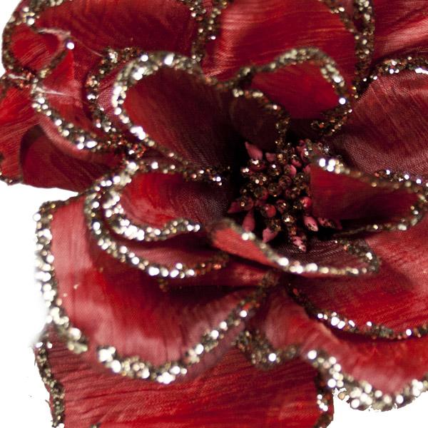 Burgundy Decorative Flower - 15cm
