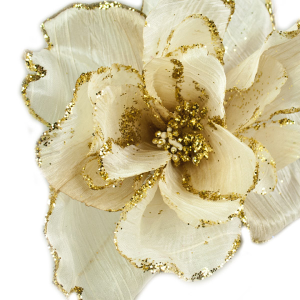 Cream Decorative Flower - 15cm