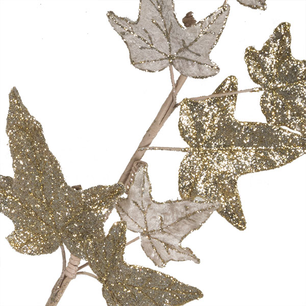 Platinum Glitter Finish Ivy Spray - 68cm