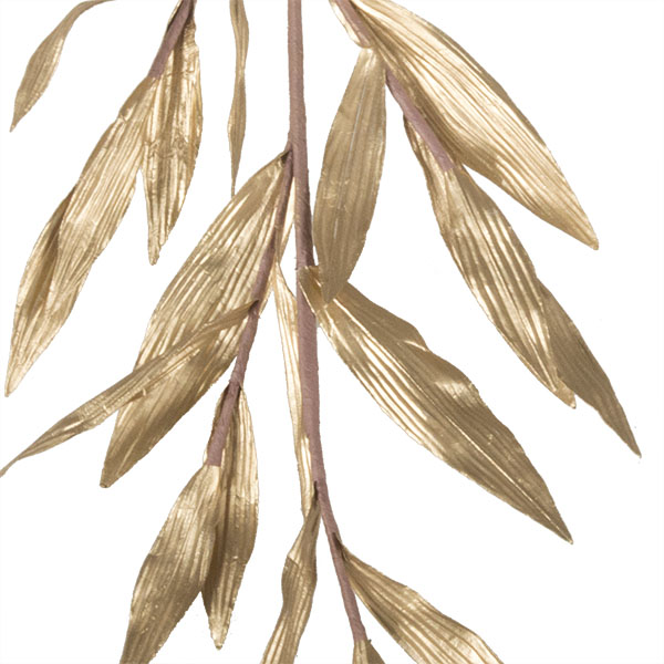 Two Tone Gold Metallic Finish Leaf Spray - 81cm