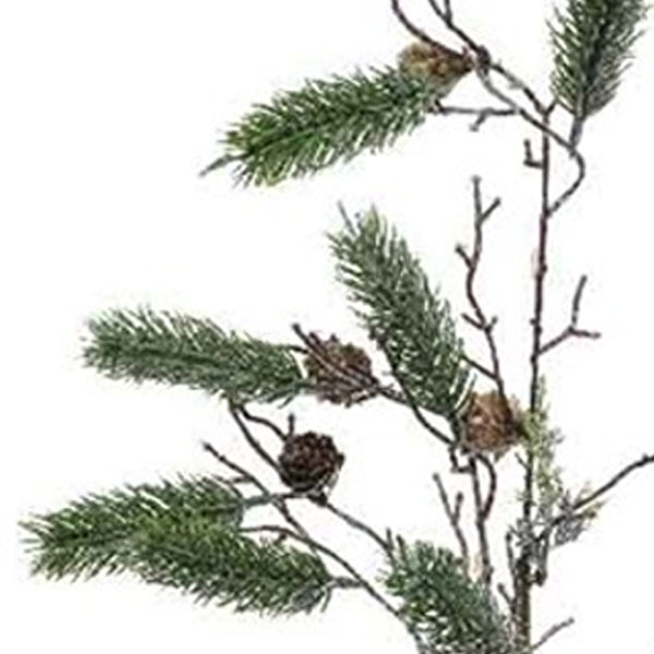 Green Pine Spray With Pinecones - 85cm