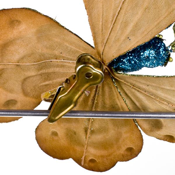Multi Colour Butterfly On Clip - 18cm