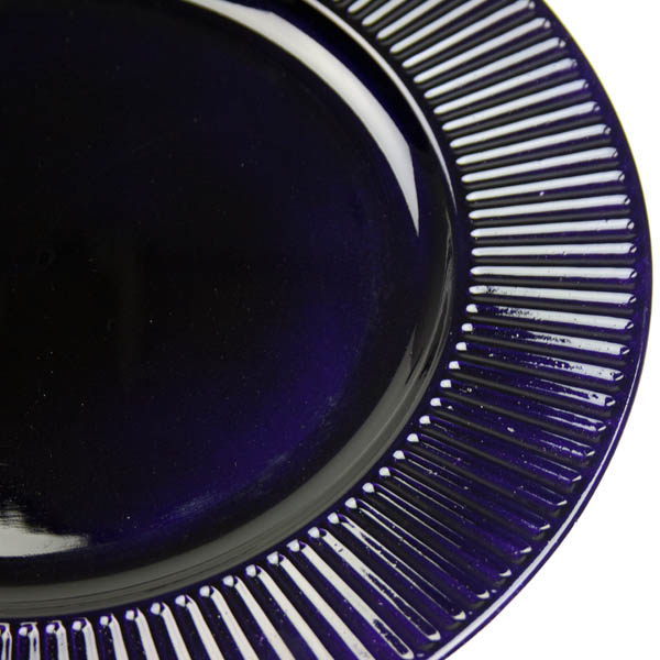 Embossed Bevelled Rim Purple Round Charger Plate - 33cm Diameter