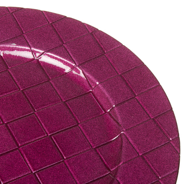 Round Patterned Charger Plate 33cm Diameter - Cyclamen Pink