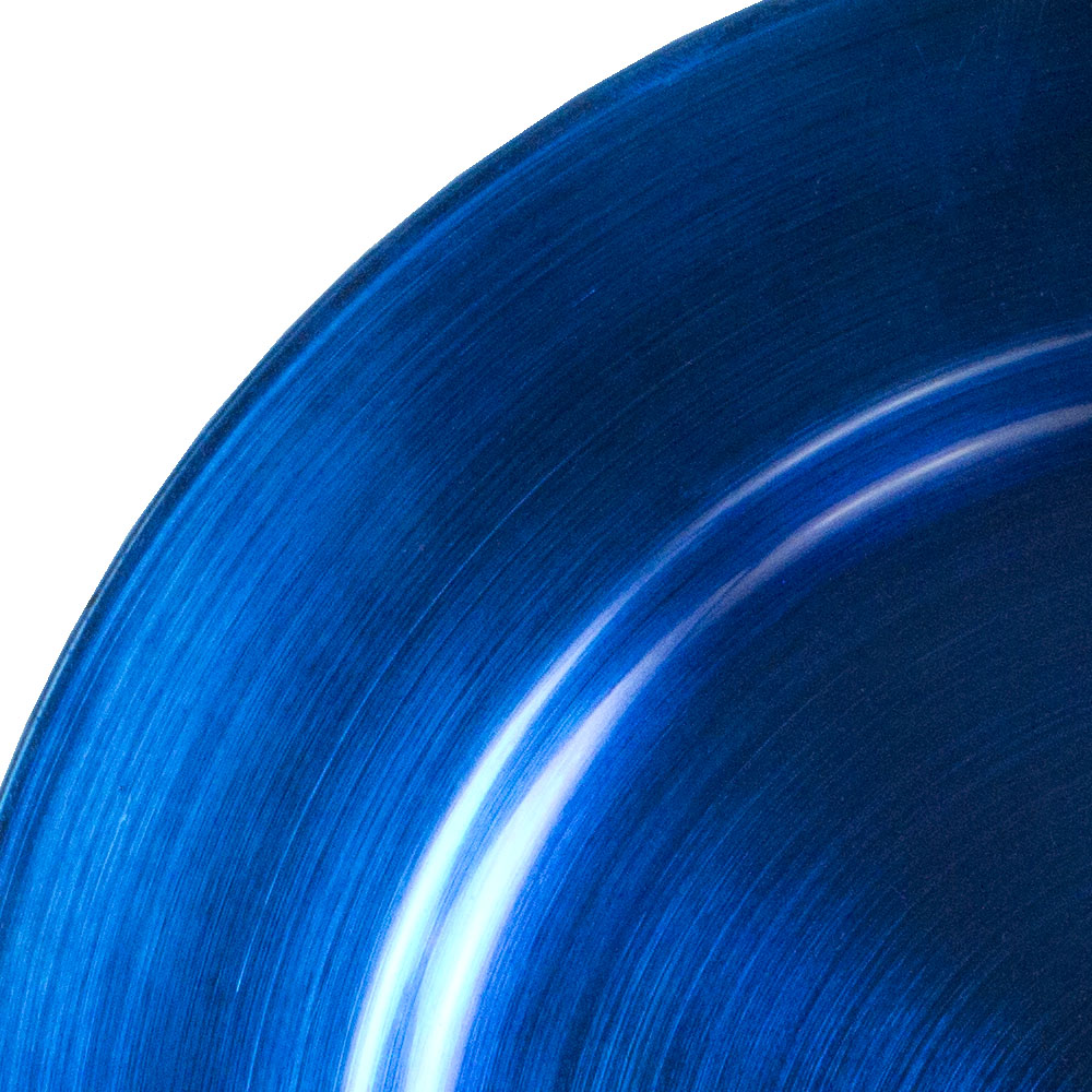 Standard Blue Round Charger Plate - 33cm