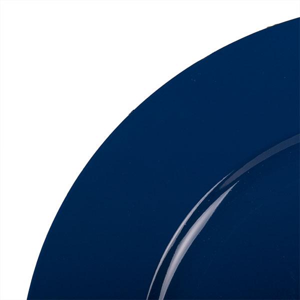 Standard Blue Round Matt Charger Plate - 33cm