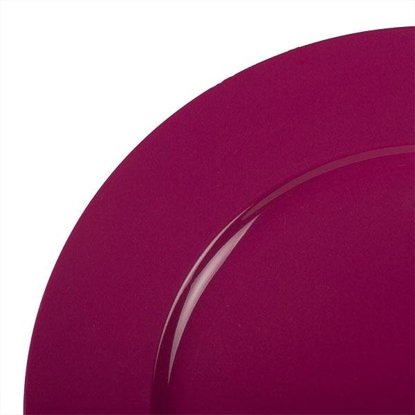 Standard Cerise Pink Round Matt Charger Plate - 33cm