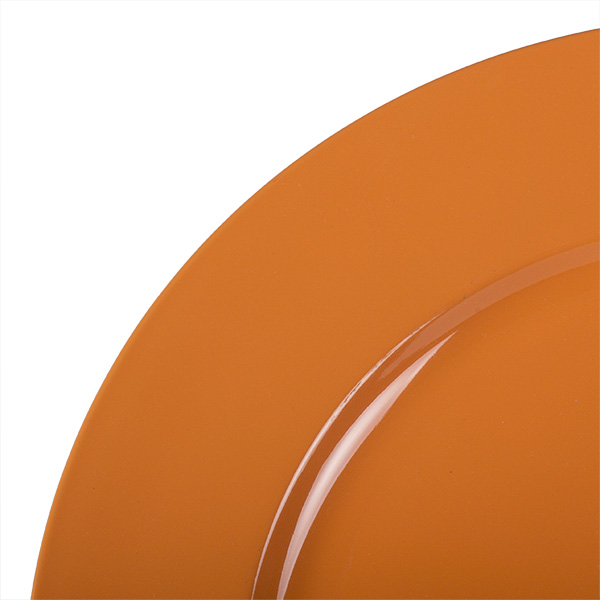 Standard Orange Round Matt Charger Plate - 33cm