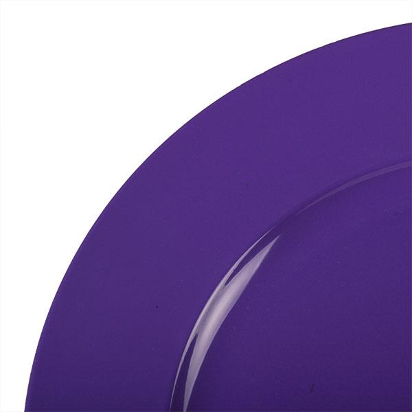 Standard Purple Round Matt Charger Plate - 33cm