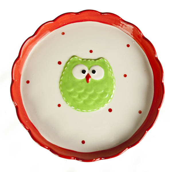 Red Owl Design Cake Stand - 22cm