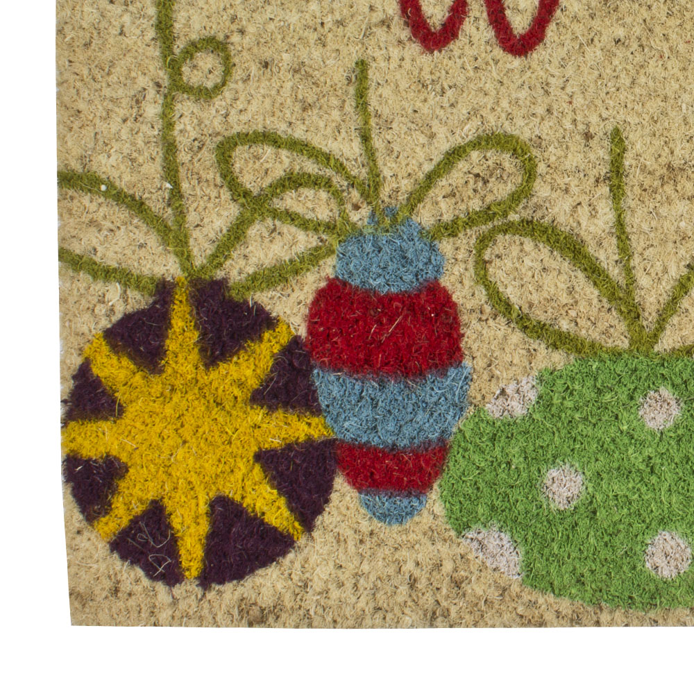 Festive Baubles Design Door Mat - 60cm X 40cm