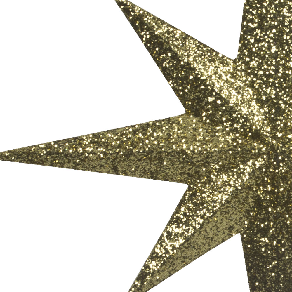 8 Point Gold Glitter Star - 30cm