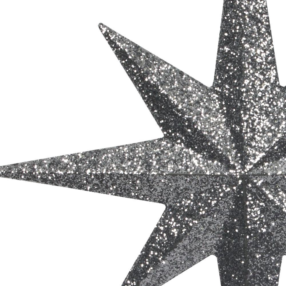 8 Point Silver Glitter Star - 30cm