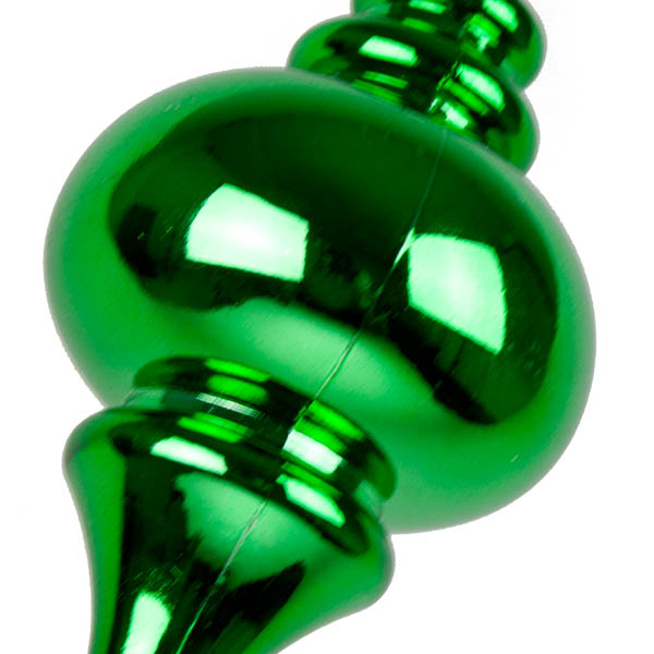 Green Finial Hanging Decoration - 25cm
