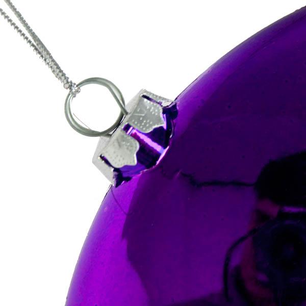 Purple Disc Hanging Decoration - 20cm