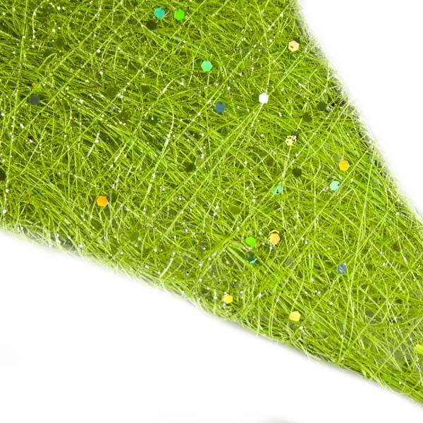 Green Glittering Sisal Display Star Decoration - 40cm
