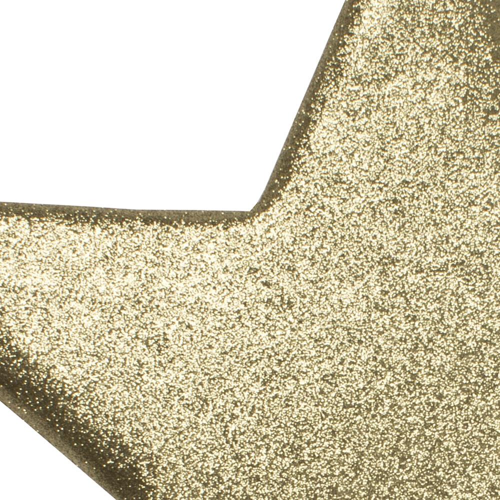 50cm Glitter Display Star Hanger - Gold