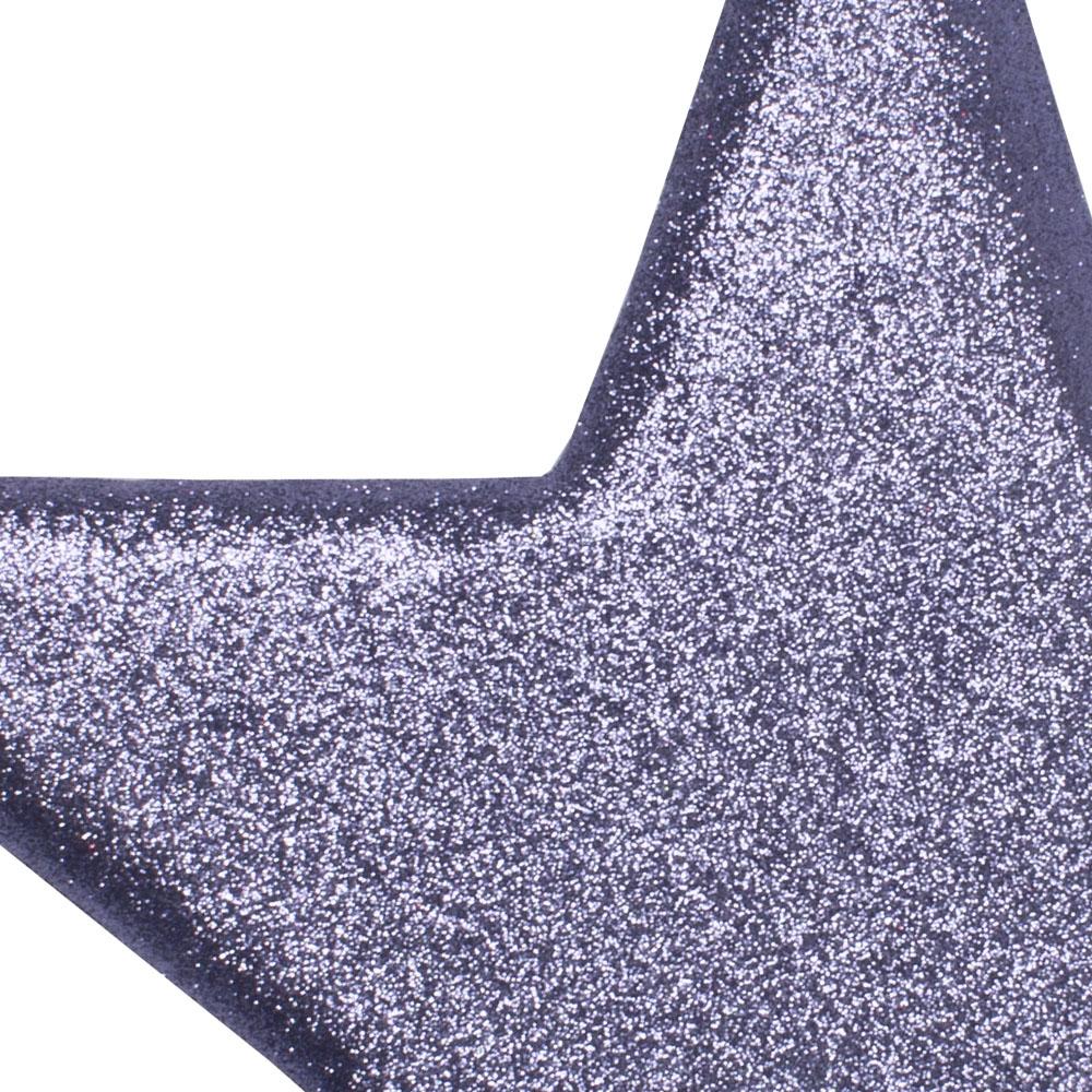 40cm Glitter Display Star Hanger - Purple Haze