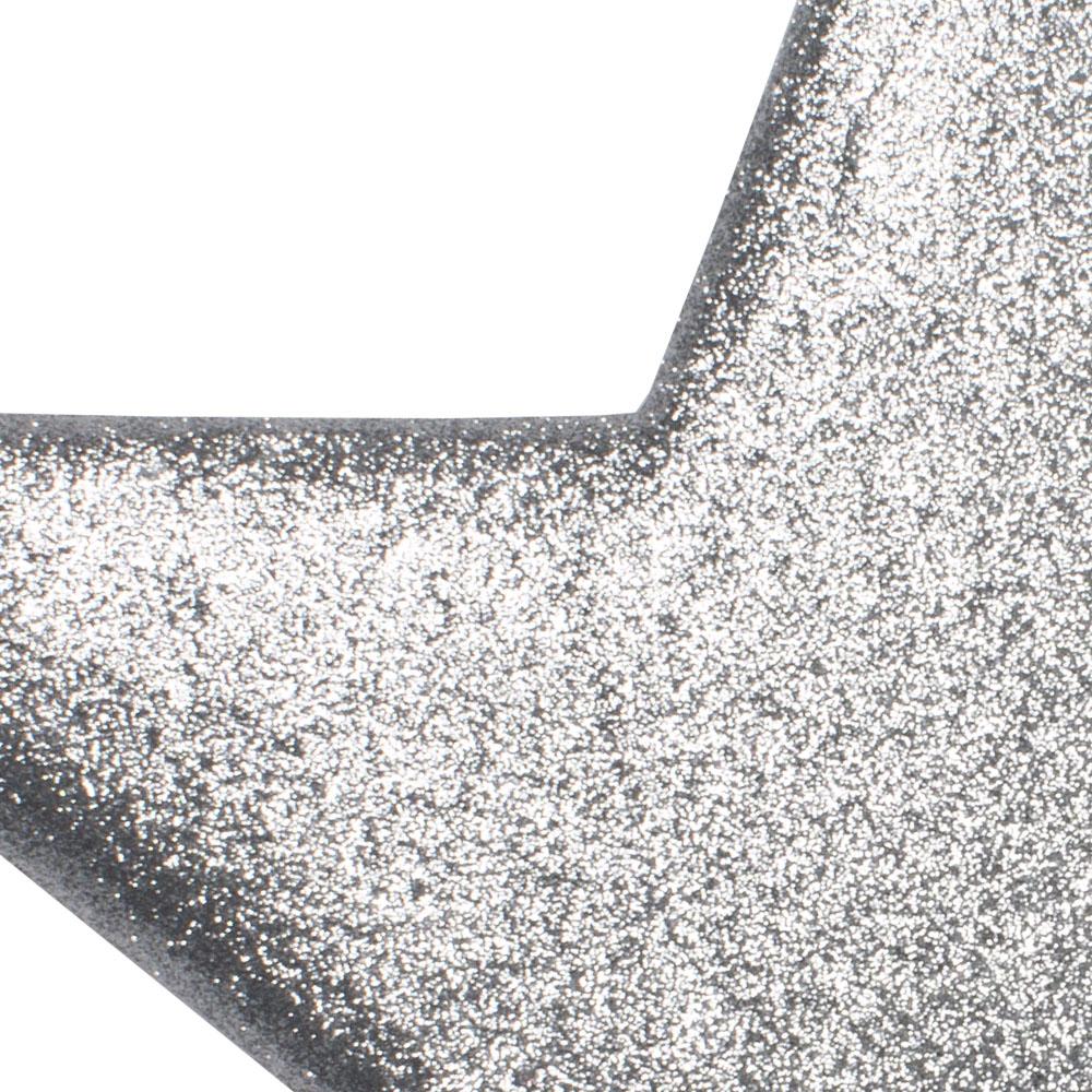50cm Glitter Display Star Hanger - Silver