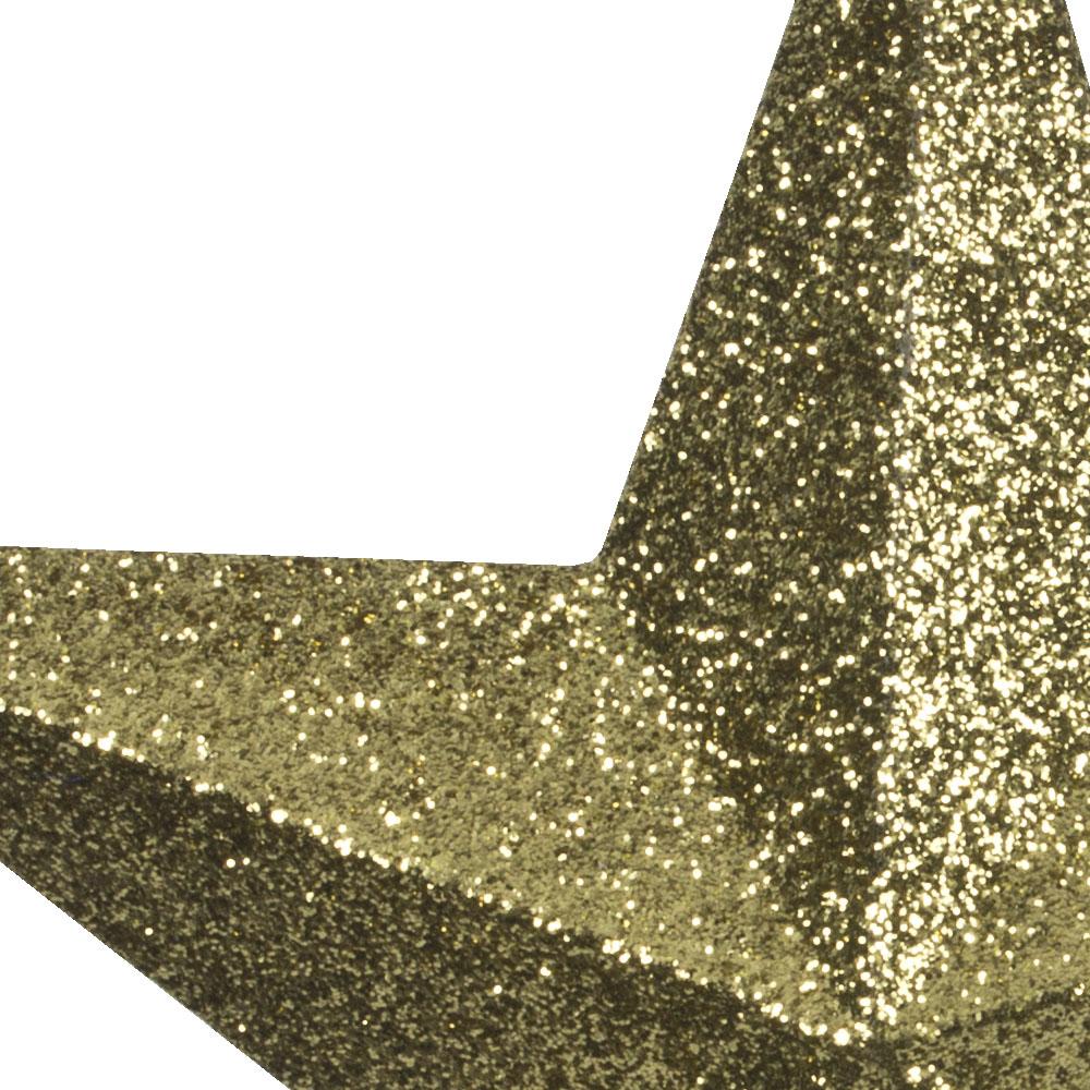 5 Point Gold Glitter Star - 30cm