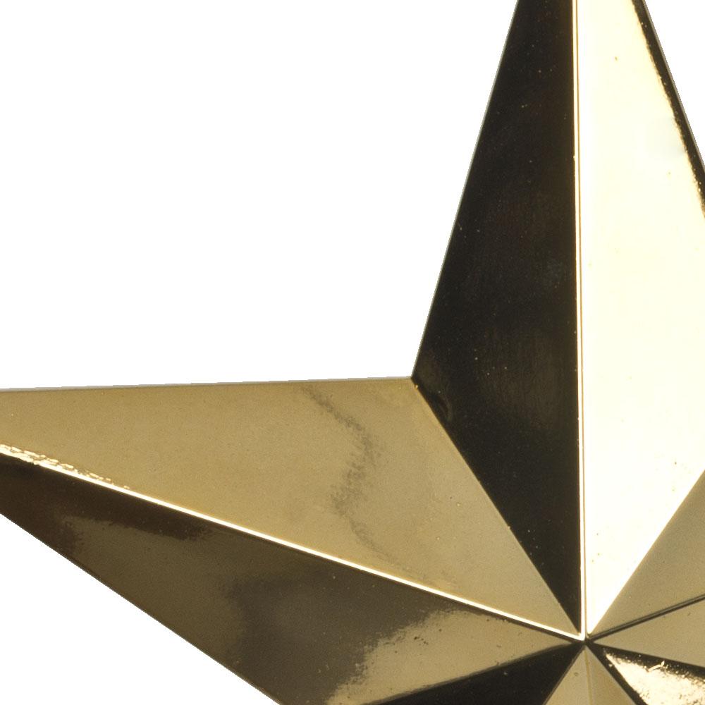 5 Point Shiny Gold Star - 20cm