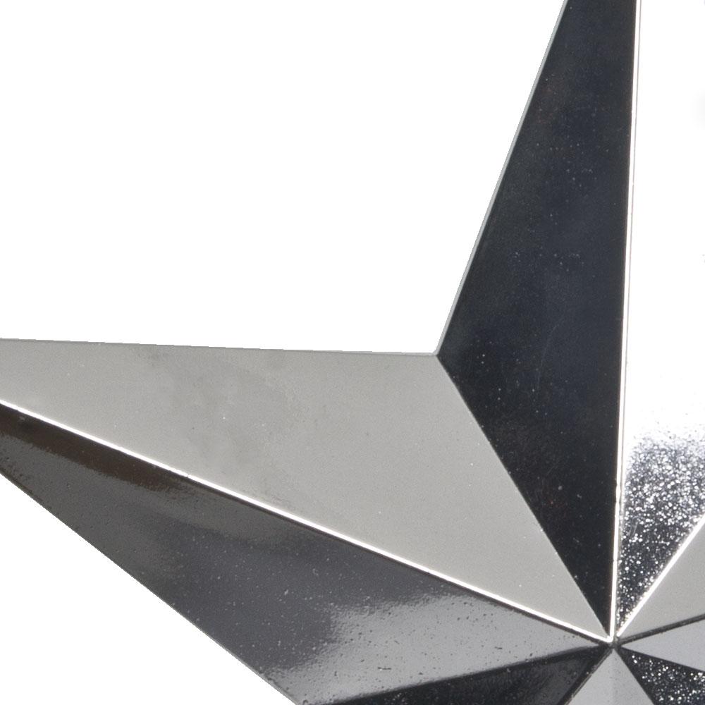 5 Point Shiny Silver Star - 30cm