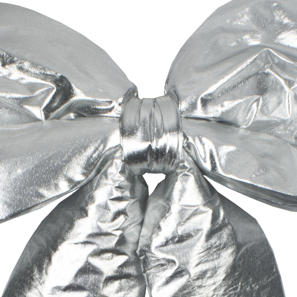 Silver Metallic Display Bow - 45cm