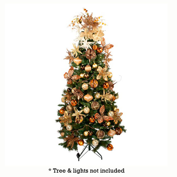 ... Chocolate Orange Theme Tree Decorating Pack ...