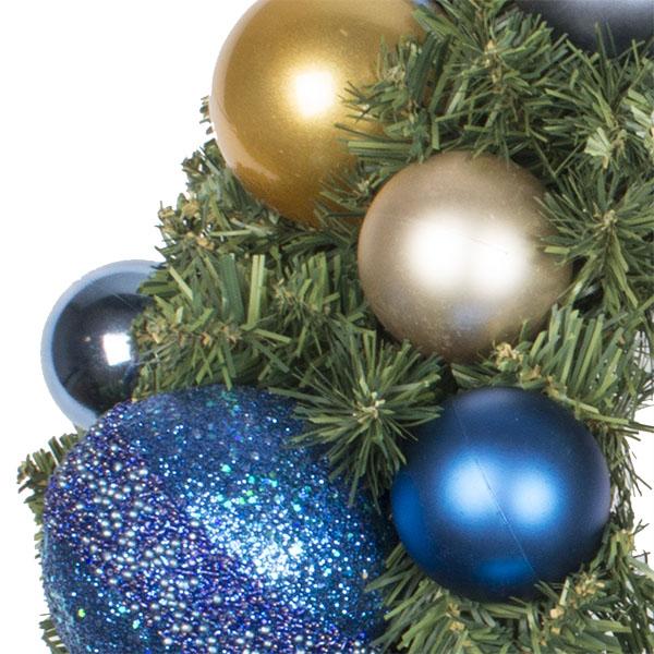 Regal Blue Theme Range - 60cm Pre-Decorated Wreath