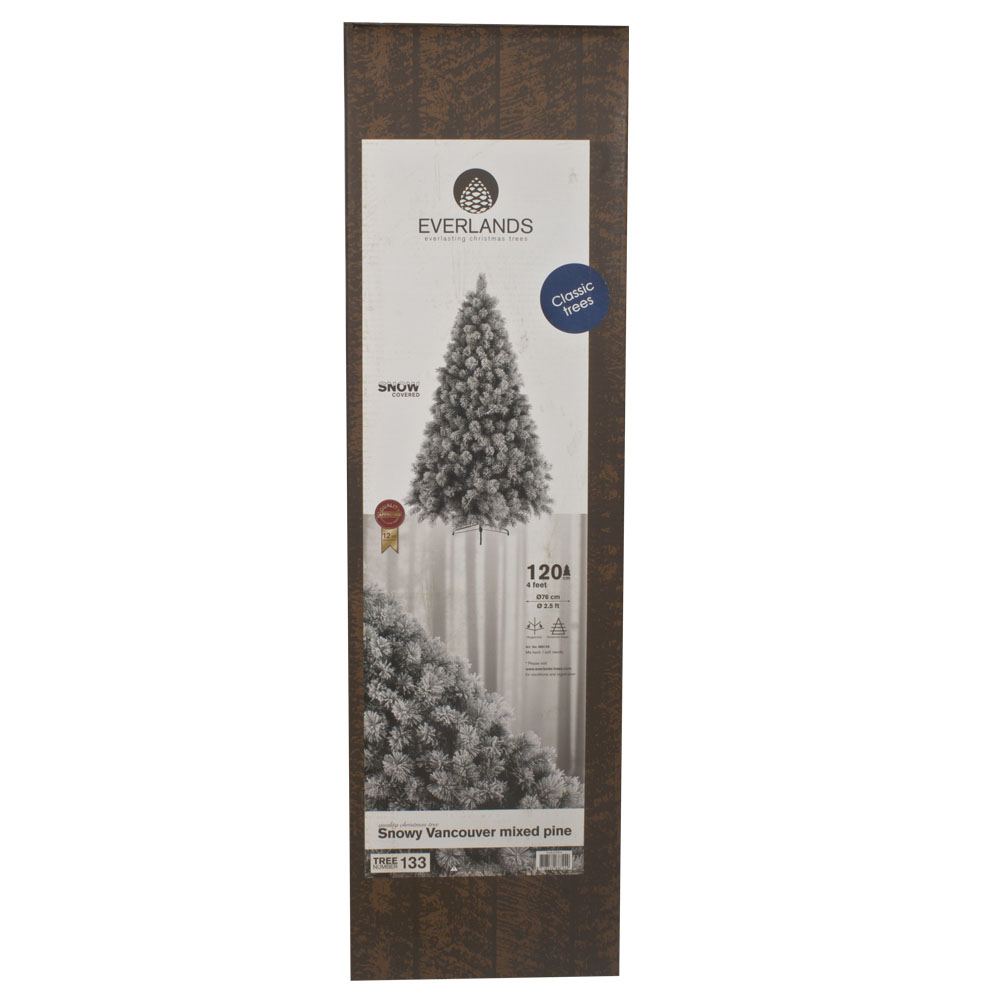 Snowy Vancouver Artificial Christmas Tree - 1.2m (4ft)