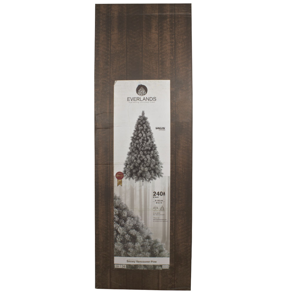 Snowy Vancouver Artificial Christmas Tree - 2.4m (8ft)